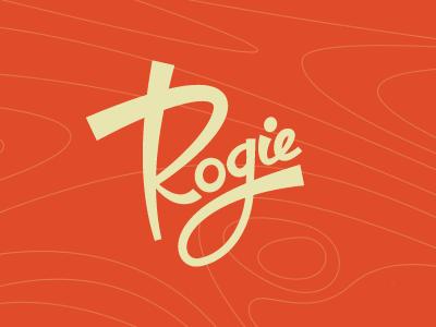 Rogie retro 50s vintage signature logo type