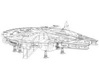 Millennium Falcon Linework [WIP]