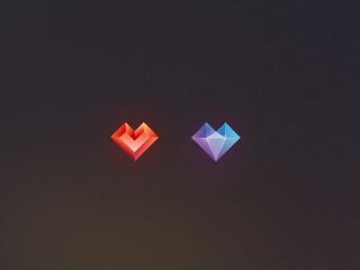Potential Brand Marks gem facet heart