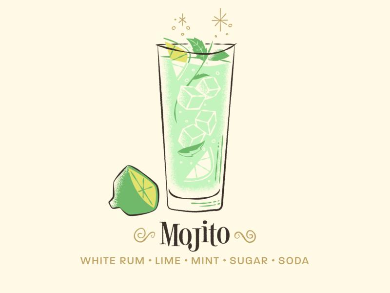Mojito / Drinktober / Inktober illustration cocktail bar drink cocktail mojito