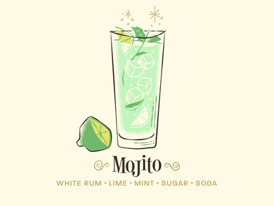 Mojito / Drinktober / Inktober illustration cocktail bar drink cocktail mojito