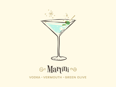 Martini / Drinktober / Inktober drinktober inktober martini vintage car retro mid century modern illustration art