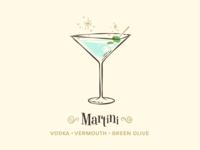 Martini / Drinktober / Inktober