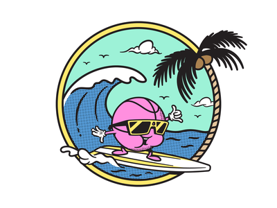 Dribbble Hangtime LA 2018 character art tee shirt character design mascot illustration