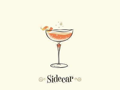 Sidecar / Drinktober / Inktober drinktober inktober mid century modern mid century cocktail cocktails vintage art retro illustration