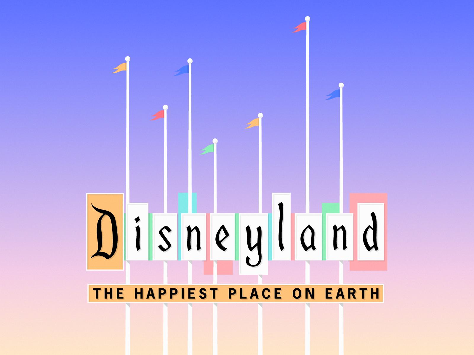 Disneyland sign dribbble