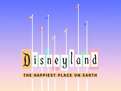 Disneyland Sign papercraft paper art disney art disney rogie king alicja colon mid century modern mid mod disneyland