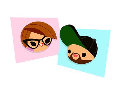 Lil buds. mary blair character design avatar retro disney art illustration
