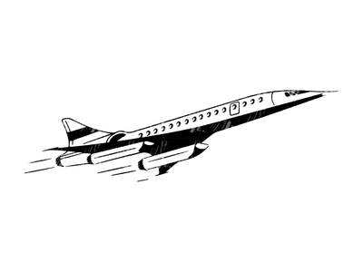 Boom icon art minimal vector retro illustration boom plane jet