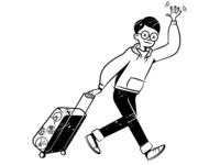Travel retro art illustration