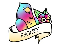 Party Parrot Illustration