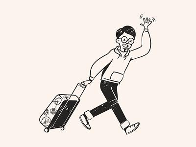 Byeeeee! character design character brand illustrations retro art illustration