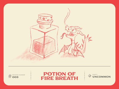 D&D Armory: Potion of Fire Breath drawing dndarmory dnd dragon character sketch art illustration