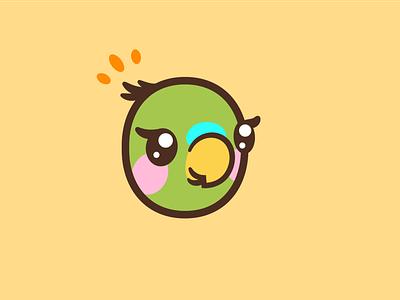Parakeet vector mascot logo illustration character bird illustration bird icon dribbble weekly warm-up parakeet