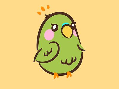 Thicc 'keet bird parakeet icon icons character art illustration