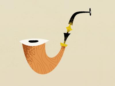 Snarfblat Illustration pipe illustration smoke fun whimsical