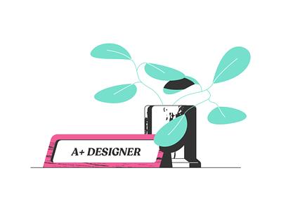 Illustration style vector branding art illustration
