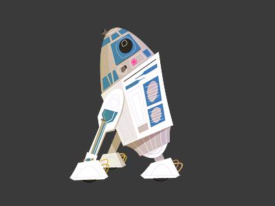 R2D2 Illustration r2 r2d2 star wars droid artoo detoo illustration