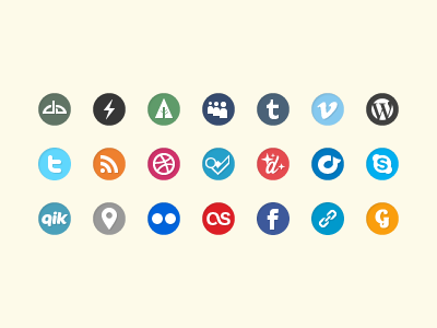 Icons for you. social love