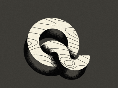 A fight for my beloved, Q typography type q shadow wood
