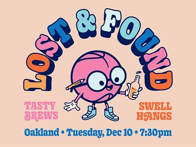 Oakland Dribbble Meetup (Next week —Tuesday, December 10th) meetup mascot character art retro illustration