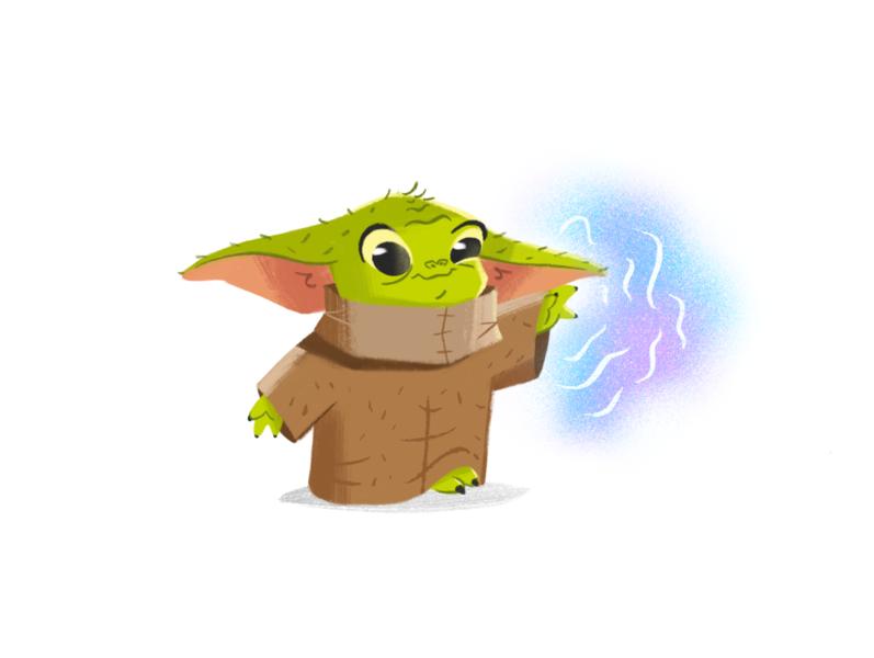 Baby Yoda from The Mandalorian the mandalorian baby yoda yoda disney character design character star wars art illustration