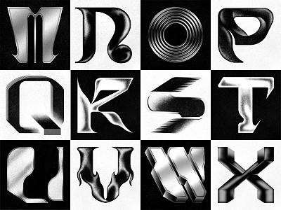 36 Days of Type 2021 (M-X) letters character digitalart logomark icon gradient geometry minimal vector font typeface lettering typography branding logo texture design 36daysoftype 36daysoftype08 36 days of type