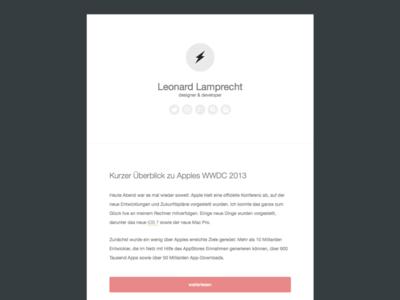 Old blog blog design web