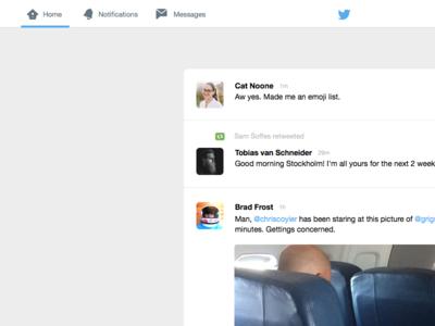 Twitter v2 timeline app web twitter