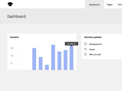 Dashboard Desktop analytics details overview