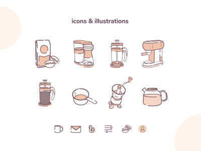 GrindBrew initial icons