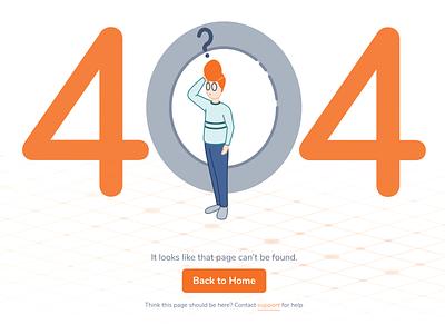 404 Error Page vector ui abstract error 404 tech branding design illustration