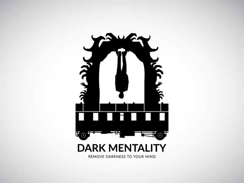 Dark Mentality | Remove Darkness to Your Mind dark mind mond dark mode train dark ui mentality dark icon creativity art design logo flat branding minimal vector illustration