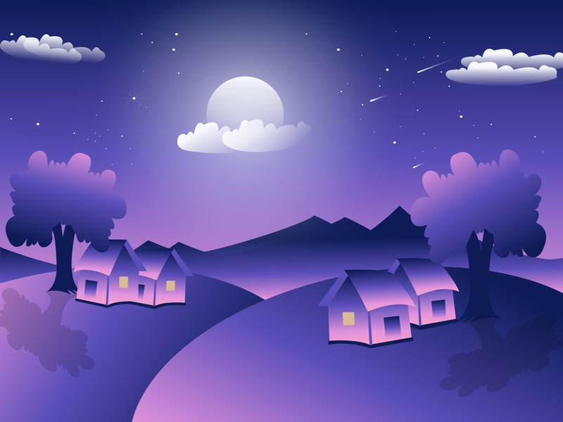 The Magical Night Illustration design art artwork artist poster design animation art creativity vector illustration