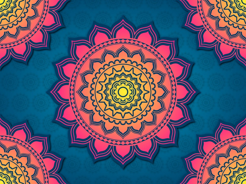 Colorful Mandala Background design floral pattern flower mandala yellow pink blue mandala colorful mandala mandala background mandala design pattern background mandala art mandala