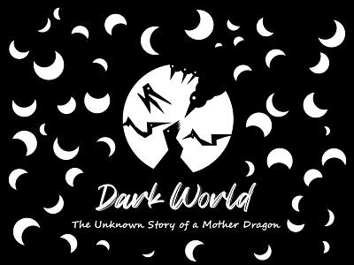 Dragon Story of a Dark Night Illustration dark night dark mother dragon story illustrator creativity design vector illustration