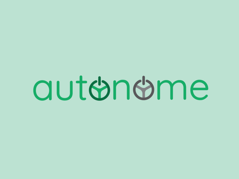 Autonome - Driverless Car Logo Design