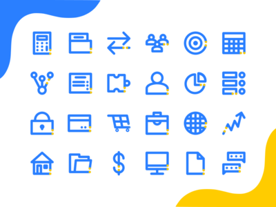 Business & Management Icon Set