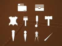 Leather Tools Icon