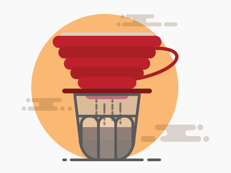 Pour Over Coffee v60 simple graphic brand mobile icon dribbble website web vector ux ui minimal illustration flat design app v60 hario pour over coffee