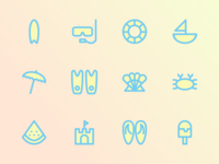 Two Tone Summer Icon