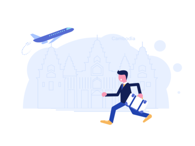 Cambodia travel illustration