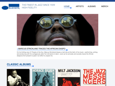 Blue Note website redesign