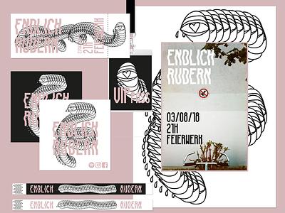 Endlich Rudern Branding poster photography design logo branding graphicdesign corporate design