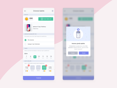Sticky Products Settings listings promotional design choose sticky ui  ux mobile coin popup settings mobile design