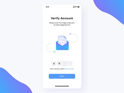 Verify Account mobile design mobile ui mobile verify verification application ux ui app design