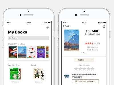Goodreads Redesign Concept ux books app concept ui ios
