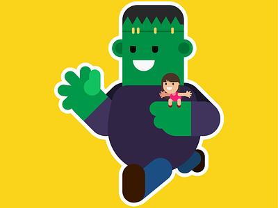 Adventure Time! spooky design illustrator cc ai friends cute frankenstein halloween illustration