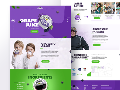 Grape Juice - Web Design graphic design juice impossible children fun product visual design creative design branding typography website web concept ux ui