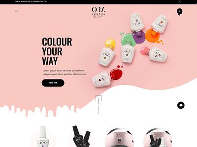 ORA London - Shopify Web Design branding creative direction elegant design modern design visual colorful logo fashion creative design clean ui flat website web illustration concept ux minimal ui